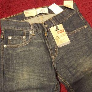 Boys NWT LEVI's Original 505 Zipper-Fly Blue Jean